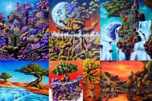 オーストラリア画家旅で依頼されたZiNARTの絵画作品まとめ。